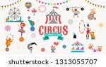 circus banner and background... | Shutterstock .eps vector #1313055707