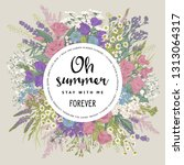 wedding invitation. summer... | Shutterstock .eps vector #1313064317