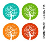 set of colorful season tree... | Shutterstock .eps vector #131307545