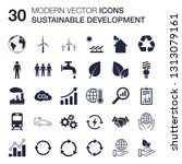 sustainable development icons... | Shutterstock .eps vector #1313079161