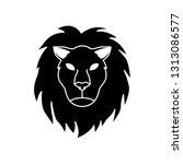 simple leo horoscope icon   Shutterstock .eps vector #1313086577