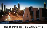 Atl Sign At Night