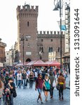 ferrara  italy. april 21  2018  ... | Shutterstock . vector #1313091644