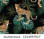 beautiful seamless vector... | Shutterstock .eps vector #1313097017