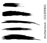set of hand drawn grunge brush... | Shutterstock .eps vector #131309801