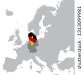germany location map on map... | Shutterstock .eps vector #1313099981