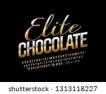 vector golden label elite... | Shutterstock .eps vector #1313118227