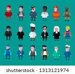 set of people  set of... | Shutterstock .eps vector #1313121974