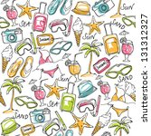 summer vacation holiday icons... | Shutterstock .eps vector #131312327