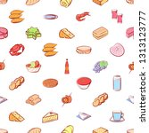 food images. background for... | Shutterstock .eps vector #1313123777