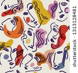 seamless vector pattern with...   Shutterstock .eps vector #1313128481