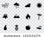 vector nature sign symbols. eco ... | Shutterstock .eps vector #1313131274