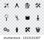 vector repairing tool symbols   ... | Shutterstock .eps vector #1313131307