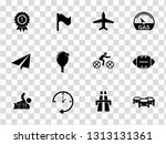 vector sports icons set. vector ... | Shutterstock .eps vector #1313131361