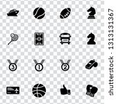 vector sports icons set. vector ... | Shutterstock .eps vector #1313131367