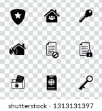 vector security  protection ... | Shutterstock .eps vector #1313131397