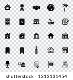 vector real estate icons  sale... | Shutterstock .eps vector #1313131454