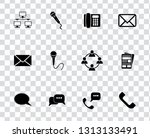 vector communication icons set  ... | Shutterstock .eps vector #1313133491