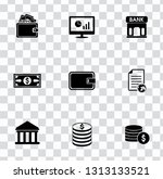 vector money collection  ... | Shutterstock .eps vector #1313133521