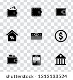 vector money collection  ... | Shutterstock .eps vector #1313133524