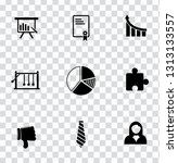 vector management icons set  ... | Shutterstock .eps vector #1313133557