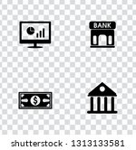 vector investment money icons... | Shutterstock .eps vector #1313133581