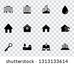 vector house buildings icons... | Shutterstock .eps vector #1313133614