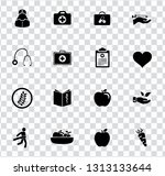 vector health care icons set.... | Shutterstock .eps vector #1313133644