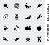 vector food icons set   bakery  ... | Shutterstock .eps vector #1313133671