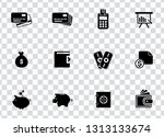 vector financial icons set  ... | Shutterstock .eps vector #1313133674