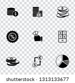 vector financial icons set  ... | Shutterstock .eps vector #1313133677