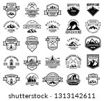 big set of mountain camp ... | Shutterstock .eps vector #1313142611