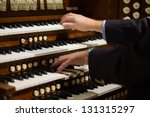 Close Up View Of A Organist...