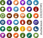 color back flat icon set  ... | Shutterstock .eps vector #1313157491
