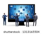 cognitive computing concept as... | Shutterstock . vector #1313165504