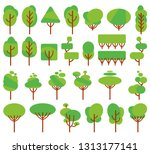 vector illustration  flat green ... | Shutterstock .eps vector #1313177141
