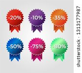 discount labels for sale in... | Shutterstock .eps vector #1313177987