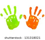Multicolored Child Hand Print...