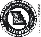 Vintage Style Missouri USA State Stamp - stock vector