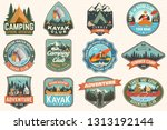 set of summer camp  canoe and... | Shutterstock .eps vector #1313192144