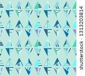seamless vector pattern.... | Shutterstock .eps vector #1313203814