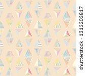 seamless vector pattern.... | Shutterstock .eps vector #1313203817