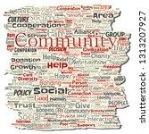 vector conceptual community ... | Shutterstock .eps vector #1313207927