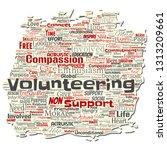 vector conceptual volunteering  ... | Shutterstock .eps vector #1313209661