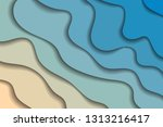 colorful background with 3d... | Shutterstock . vector #1313216417