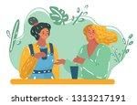 vector cartoon illustration of... | Shutterstock .eps vector #1313217191