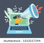 vector cartoon illustration of... | Shutterstock .eps vector #1313217194