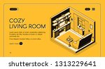 real estate agency isometric... | Shutterstock .eps vector #1313229641