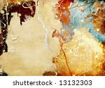 tattered background from paper' scraps - stock photo