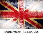 uk flag waving in the wind   Shutterstock . vector #131323955
